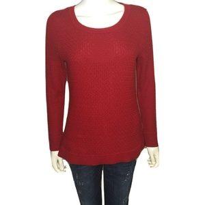 Talbots Petite Lambswool Textured Sweater MP